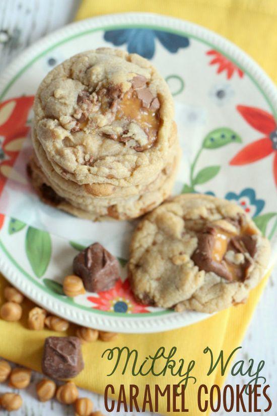 These Milky Way Caramel Cookies are DELICIOUS! { lilluna.com }