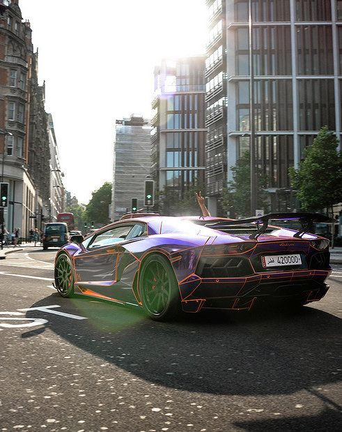 ? Purple Luxury Car Lamborghini #vehicles #wheels