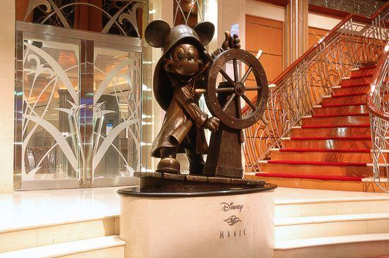Helmsman Mickey Statue on the Disney Magic