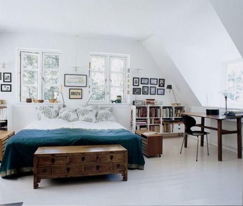 cozy swedish bedroom