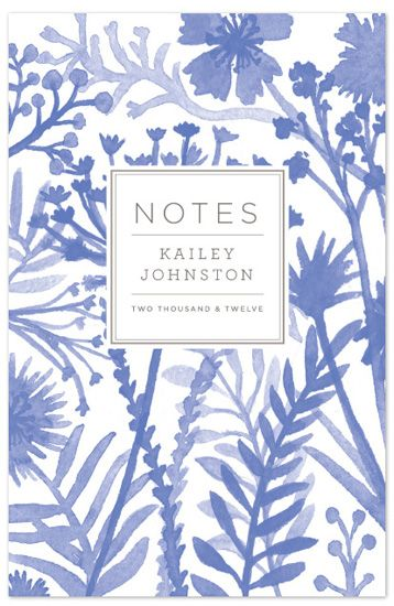 minted notebook watercolor pattern