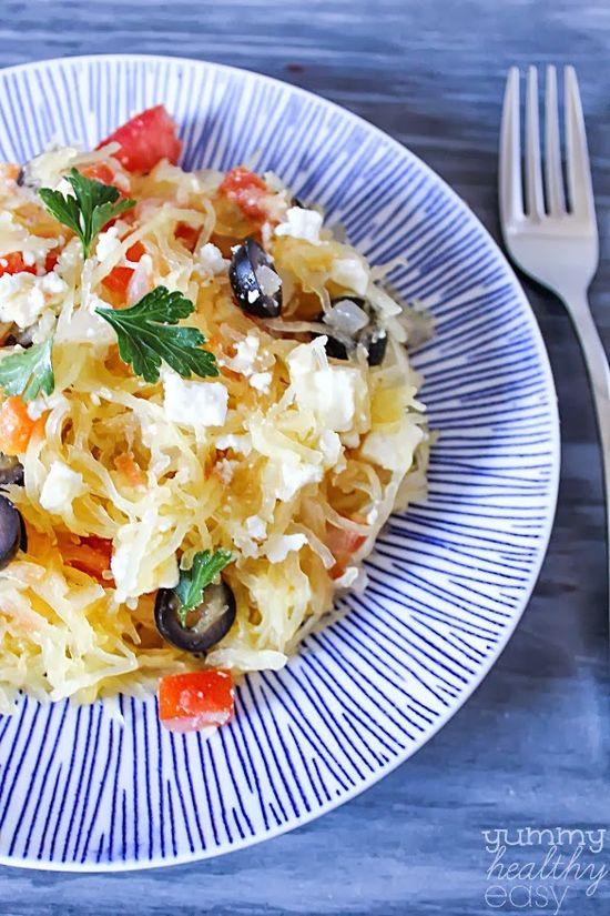 Yummy Healthy Easy: Greek Style Spaghetti Squash