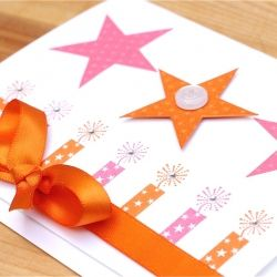 A bright and sparkly handmade birthday card!