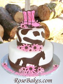 Adventures in Savings: Adventures in Baking :: Cowgirl / Horse Birthday Cake