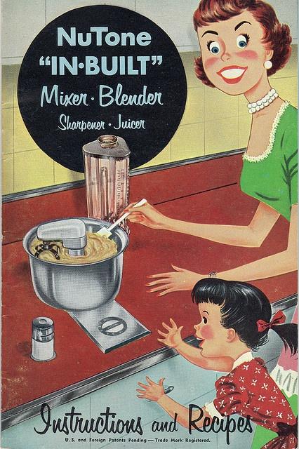 It's smiles all around when get a NuTone Mixer & Blender! #vintage #1950s #illustration #homemaker #kitchen
