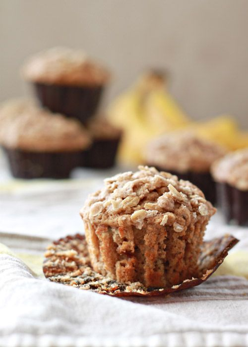 Spiced Banana Streusel Muffins. One can never have too many banana muffin recipes in their kitchen arsenal.