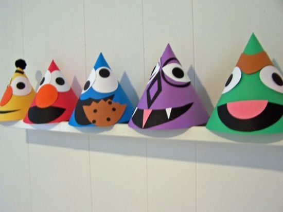 Sesame Street party hats!