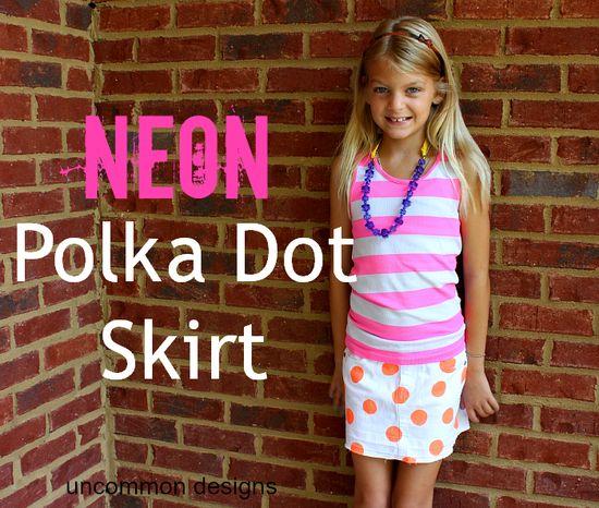 polka dot skirt tutorial