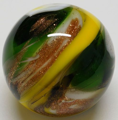 Winlock Marbles Opaque Transparent Gold Aventurine Handmade Marble