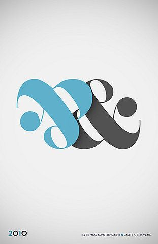 The faint shadow on the right ampersand is what really makes this.