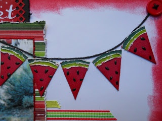 "Watermelon banner with ""summer"" on it"