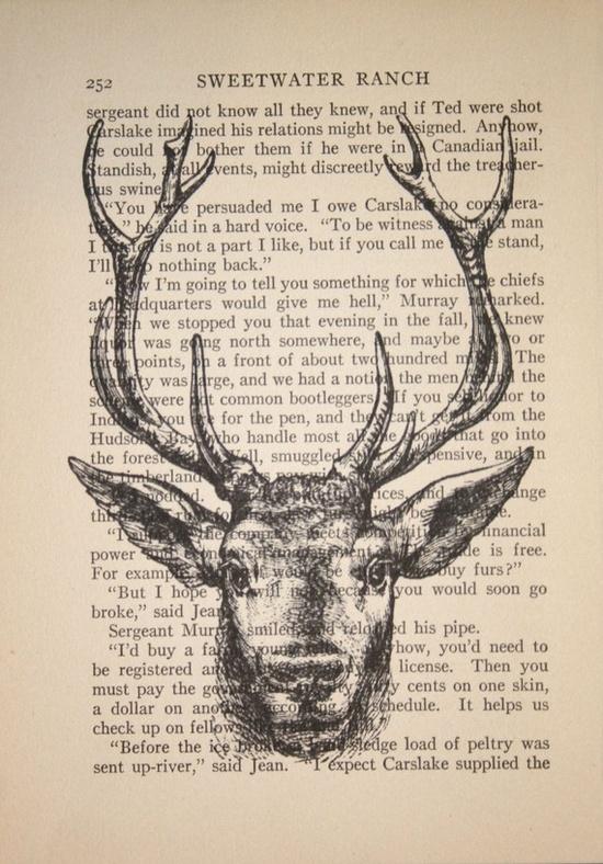 deer print #story #handmade  #illustration #deer