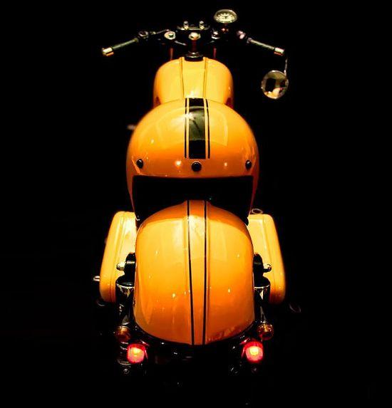 Rajputana Customs Royal Enfield -'Chingari' - Pipeburn - Purveyors of Classic Motorcycles, Cafe Racers & Custom motorbikes