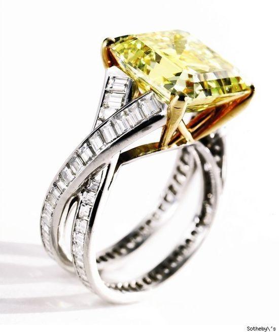 Vivid Yellow Diamond Ring by Tiffany & Co.