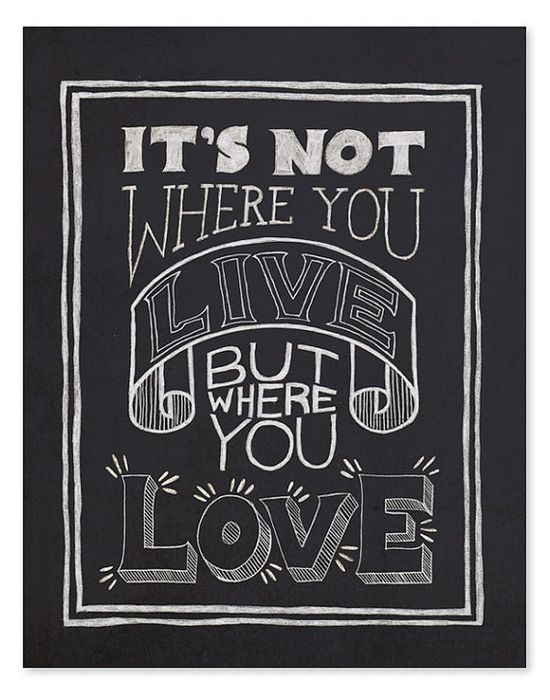 Where You Love Art Print // 8 x 10 by wickedpaper on Etsy, $16.00