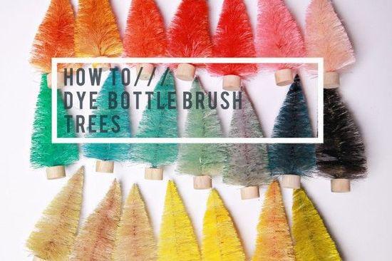 DIY ~ How to Dye Bottle Brush Trees