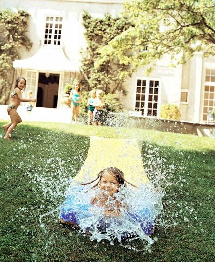 never say no to a slip and slide.