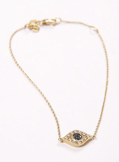 Yellow-Gold & Diamond Turkish Evil Eye Bracelet