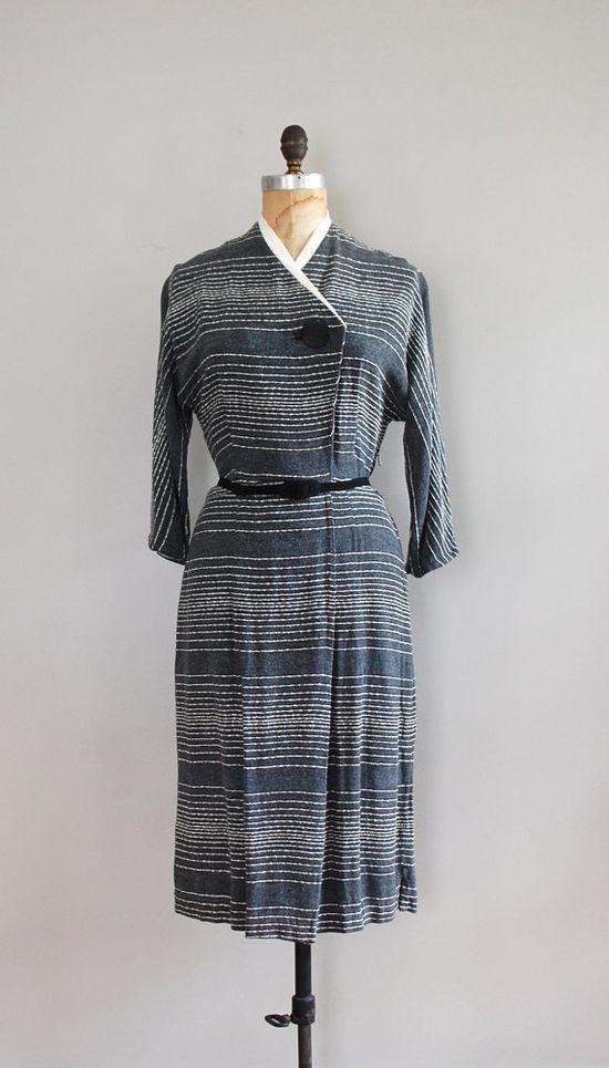 1950s dress / 50s dress / Timekeeper dress by DearGolden