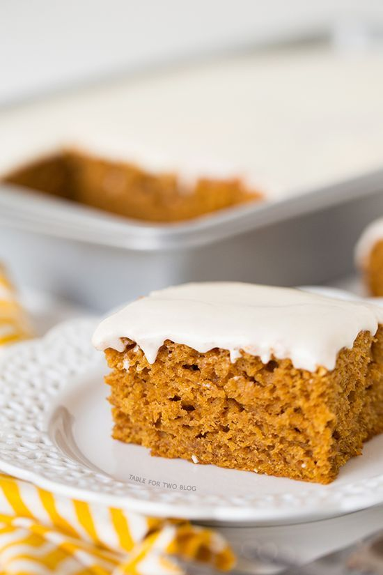 Pumpkin Spice Sheet Cake with Cream Cheese Frosting #healthy Dessert #Dessert #health Dessert