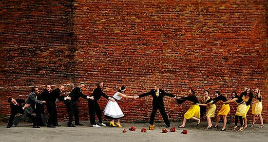 This is cute! ...Group Photography Ideas: 20 Creative Wedding Poses for Bridal Party