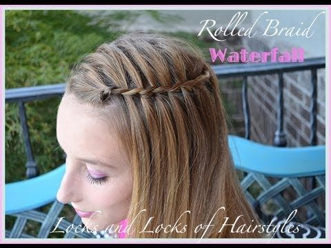Twisted Waterfall French Braid