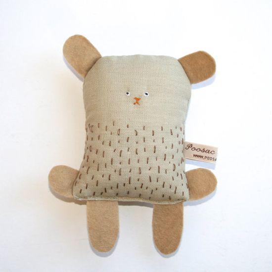 Handmade Toy Bear Soft Toy Animal Handmade Teddy Bear by poosac
