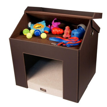 Pet Haven with attic for toy storage!