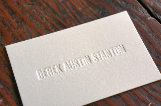 Custom Letterpress Business Cards by cottonflowerpress on Etsy