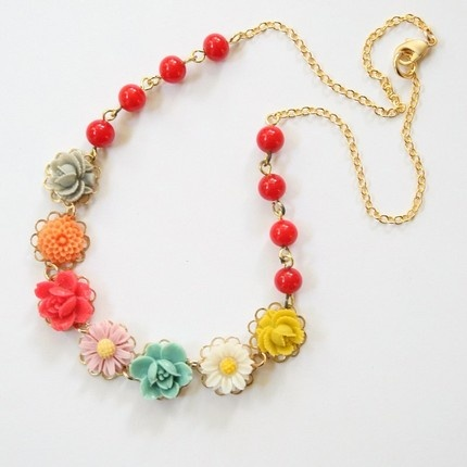 flower necklace ~ I want want want