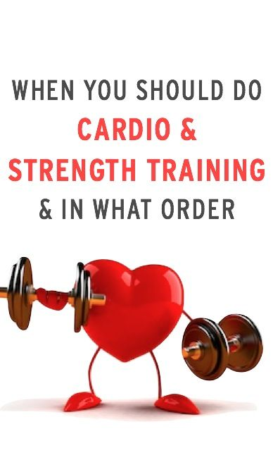 Expert advice on how to think about when to do cardio & strength training & in what order