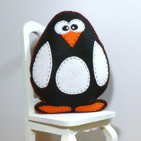 Stuffed Penguin PATTERN - Sew by Hand Plush Felt Stuffed Animal PDF - Easy to Make via Etsy