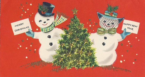 Snowmen.  #snowmen  #snowman  #holiday  #holidays  #christmas  #vintage  #art  #illustration  #newyear
