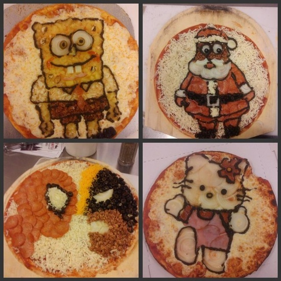 Cartoon Pizza
