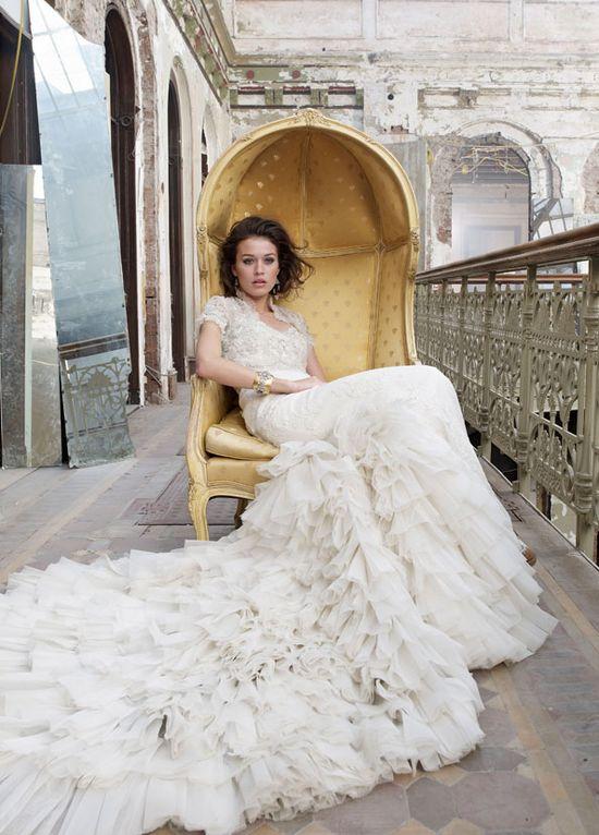 Tiered Wedding Gown / Lazaro