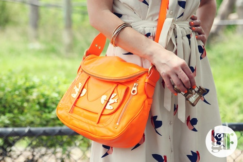 Orange Crush - Marc by Marc Jacobs Finch Charm dress & Petal to the Metal Natasha bag