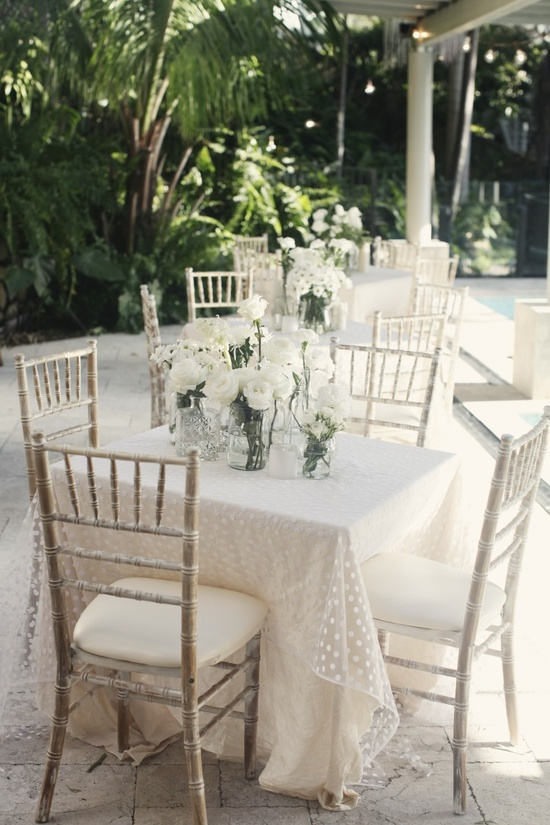 All White Engagement Party