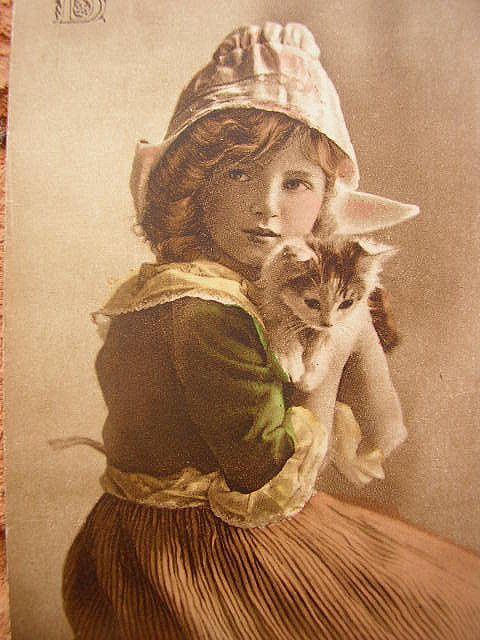 Vintage child with cat. by pollyanna.uk, via Flickr