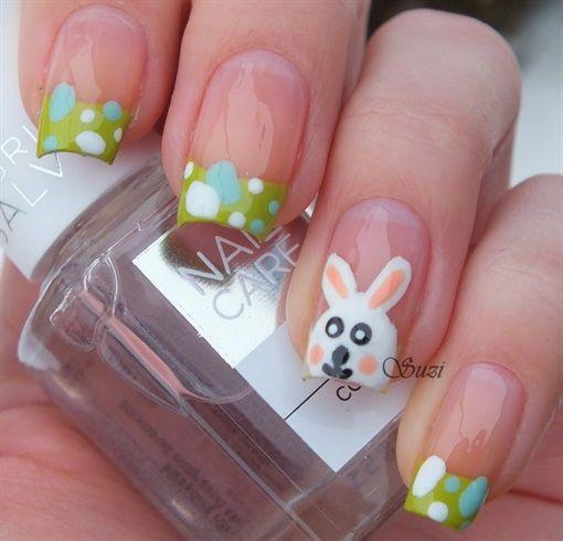 Easter Bunny Nails by BeautyBySuzi - Nail Art Gallery nailartgallery.na... by Nails Magazine www.nailsmag.com #nailart