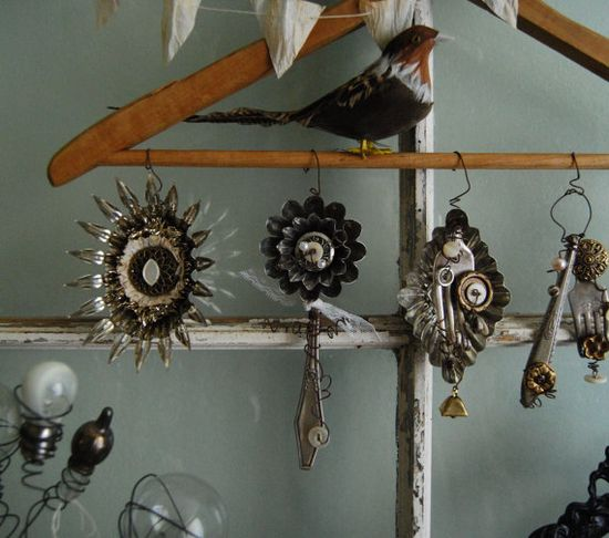 Love these random assemblage ornaments
