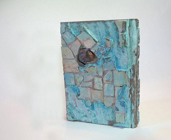 Hand Made Journal Art Writer's Journal  Scarab
