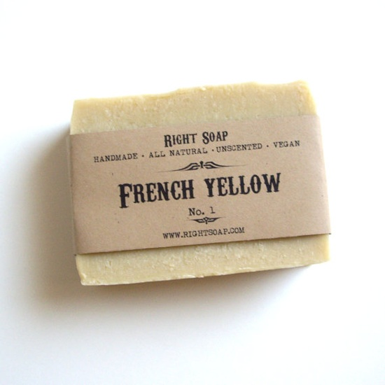 French Yellow Clay Soap  Natural Soap Vegan Soap by RightSoap, $6.00