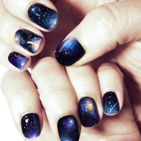 galaxy nails! LOVE!!!!