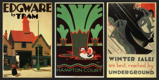 Posters for the London Underground. #vintage #travel #poster #UK