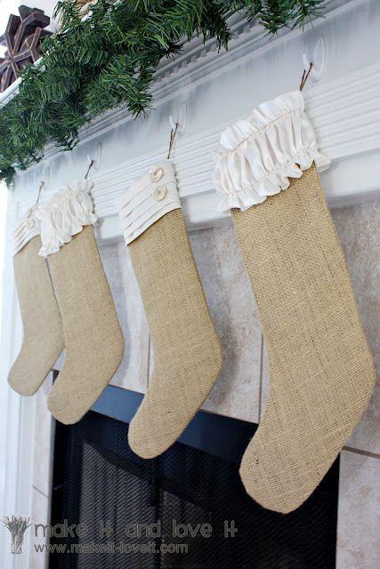 Burlap Christmas Stockings