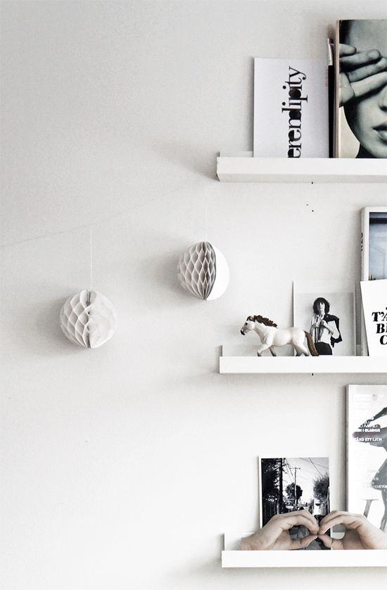 shelves (minus the honeycomb balls)