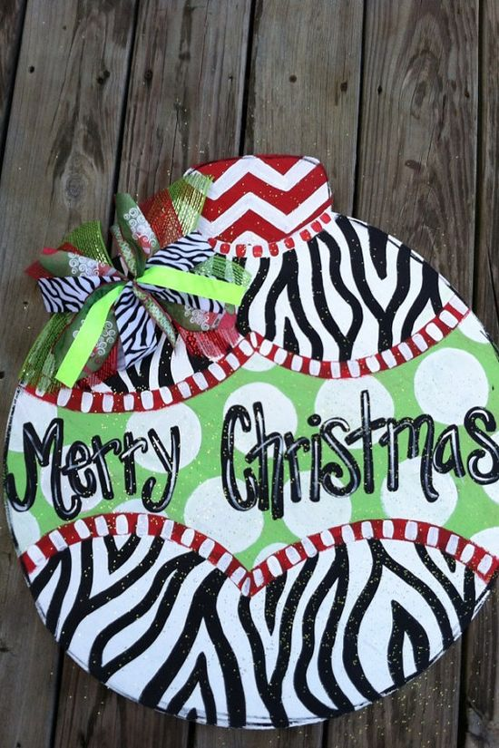 Zebra Print Christmas Ornament by StageCreations on Etsy, $30.00