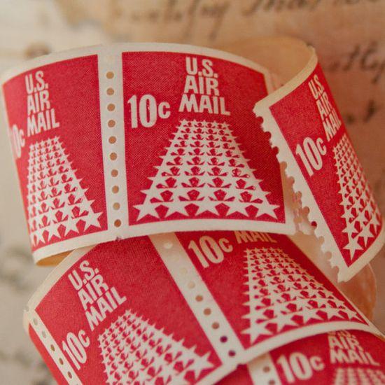 Vintage postage stamps.