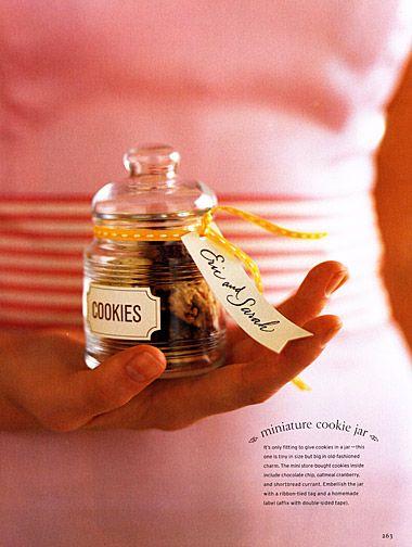 Mini cookie jar favors