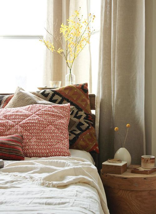 Kilim and quilt pillow covers